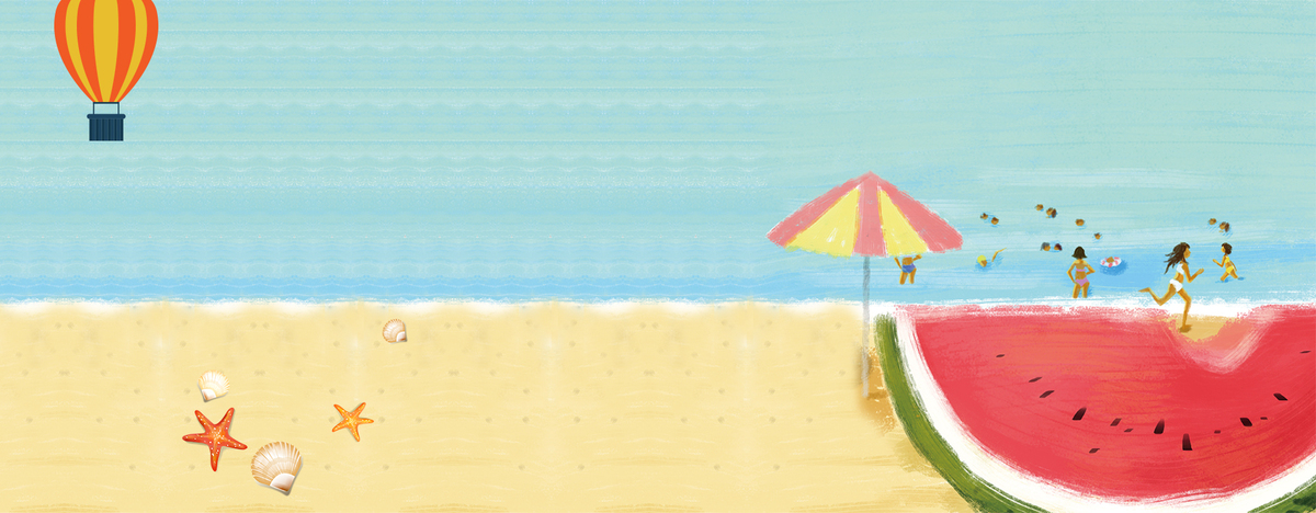 90设计提供大暑文艺创意吃西瓜童趣蓝色背景设计素材下载,高清psd格式