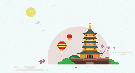 920)   唯美古典中国风意境古筝海报背景 (1024*1580)