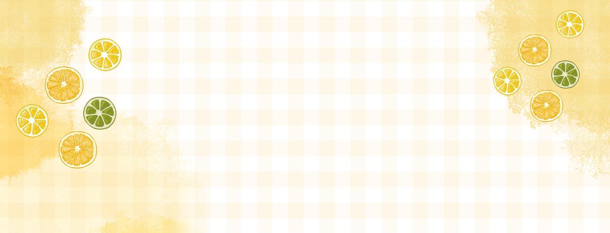 柠檬青柠简约小清新几何黄色背景