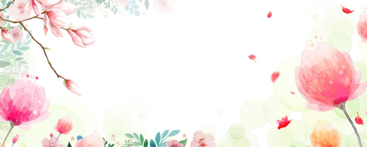 夏日女装促销手绘小清新淘宝海报背景