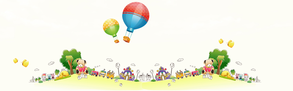 矢量卡通清新儿童海报banner背景