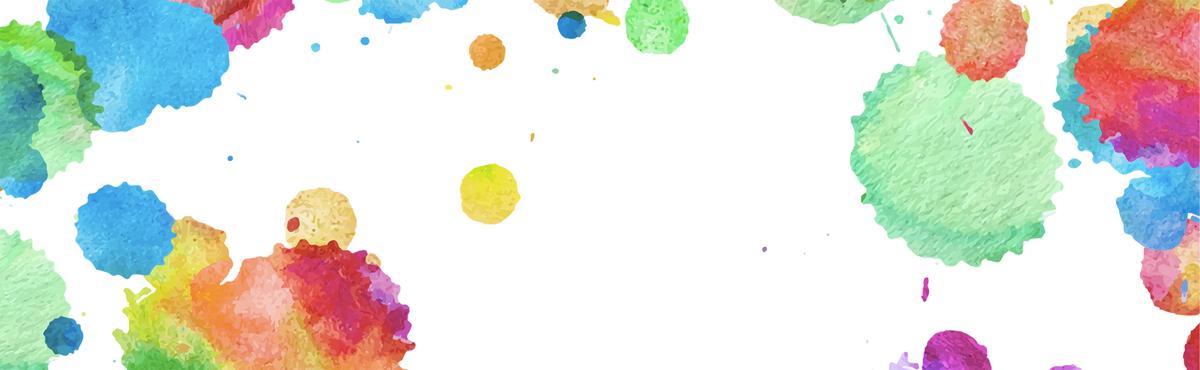 开学季水彩手绘彩色背景