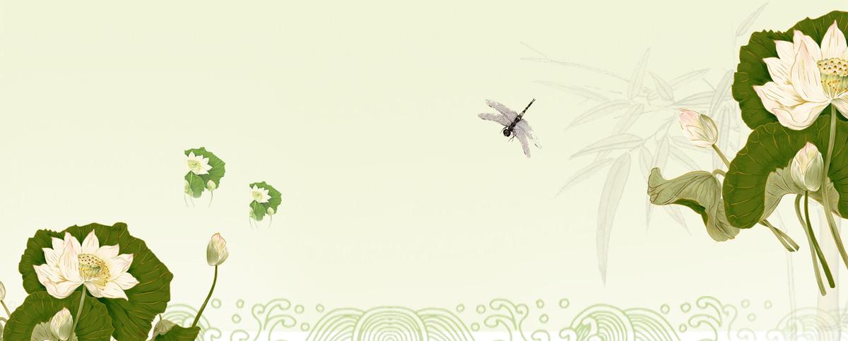 01m 尺寸:1920*774 90设计提供清新淡雅荷花处暑海报设计素材下载图片