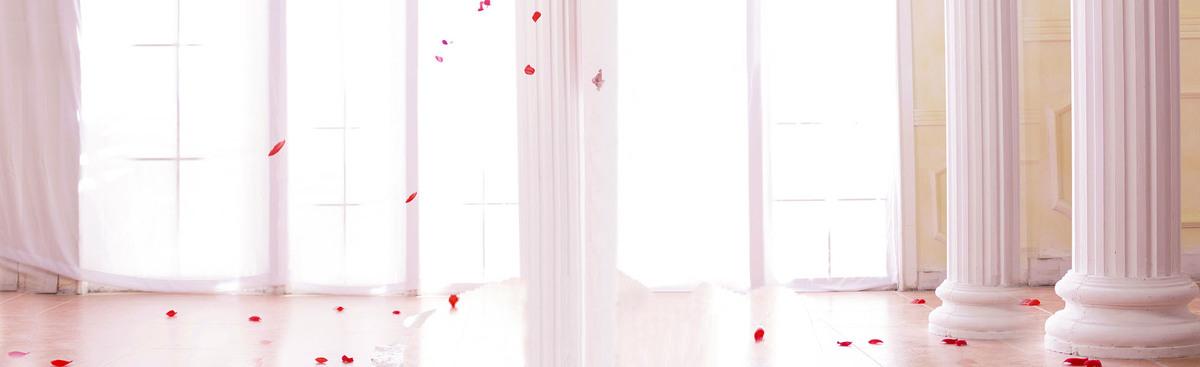 唯美浪漫婚礼促销海报banner背景_psd素材免费下载_ *