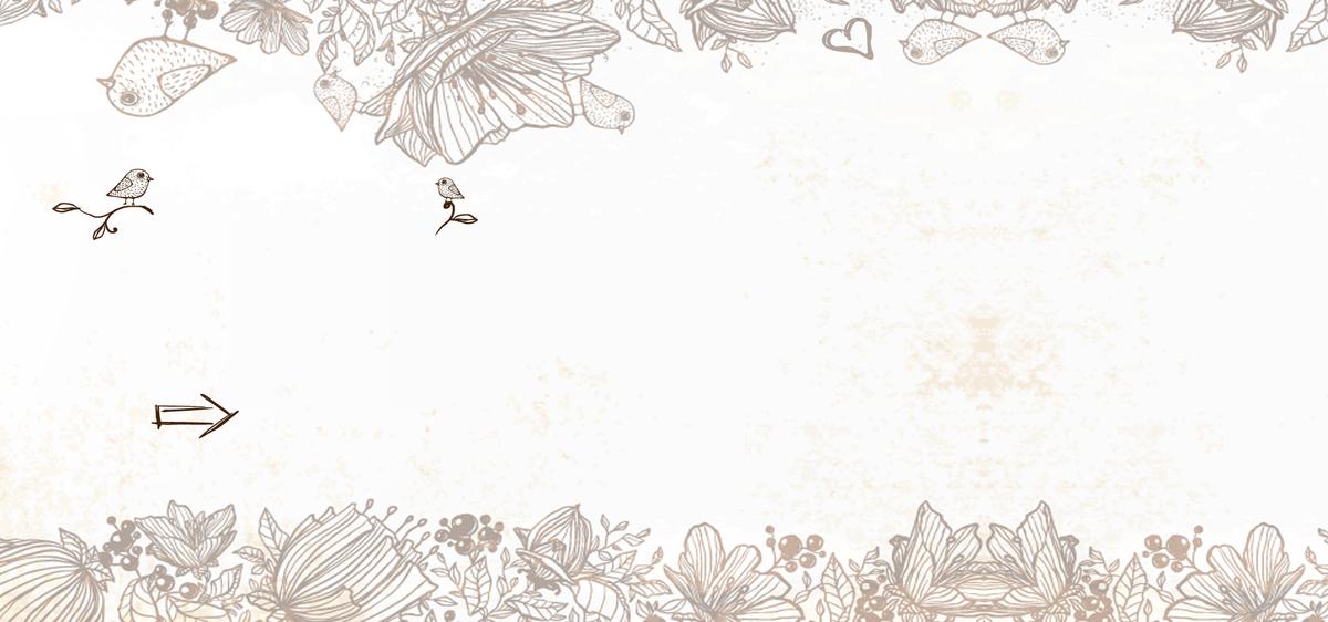 浪漫手绘文艺春夏新品花朵淘宝banner