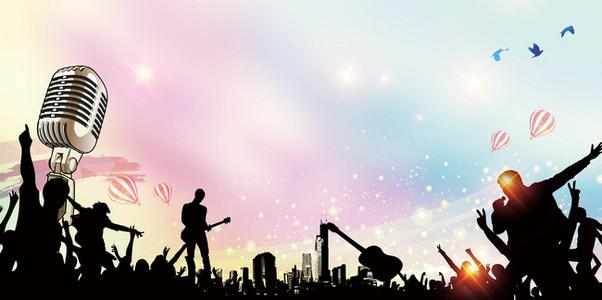 歌唱节目创意_【歌手海报背景图片】_歌手海报高清背景素材下载_千库网