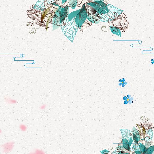 手绘清新花朵简约主图
