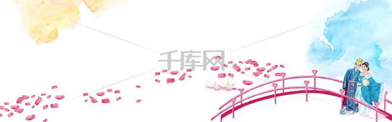 浪漫七夕banner背景图