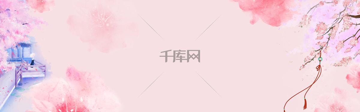 七夕情人节卡通唯美banner海报
