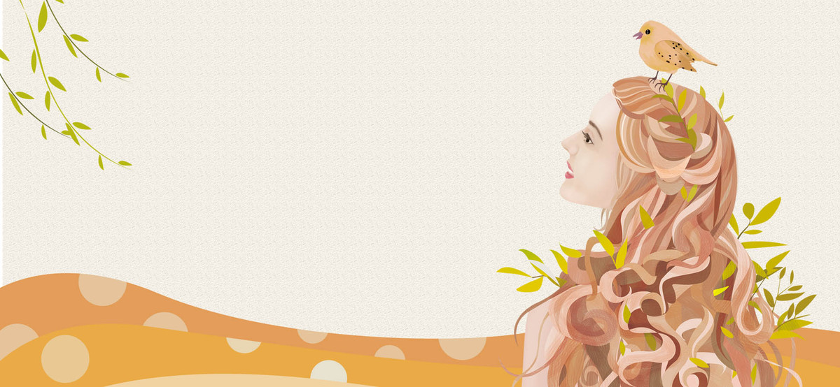 秋季上新手绘小清新淘宝海报背景