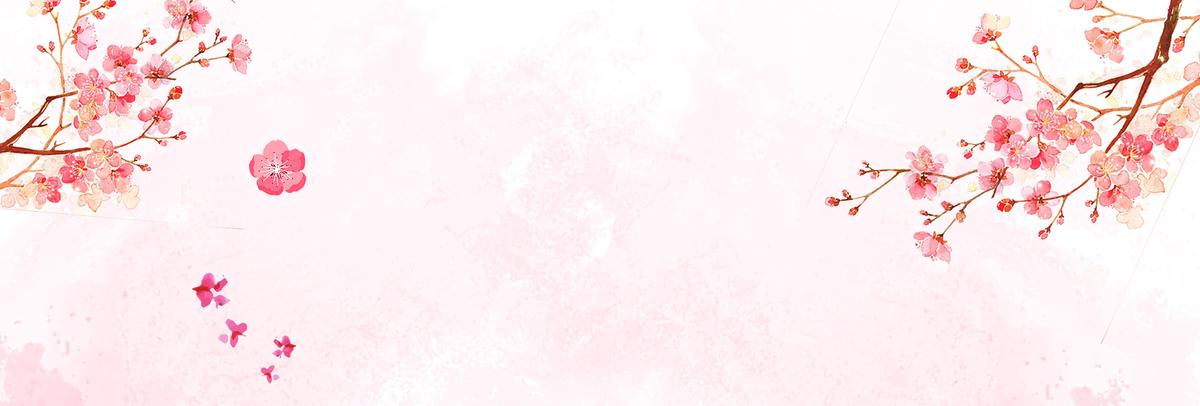 天猫电商秋季新品日系小清新樱花海报图片
