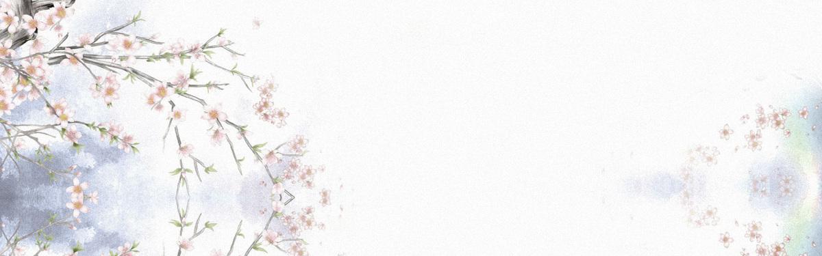 中国风手绘新品风格海报banner背景
