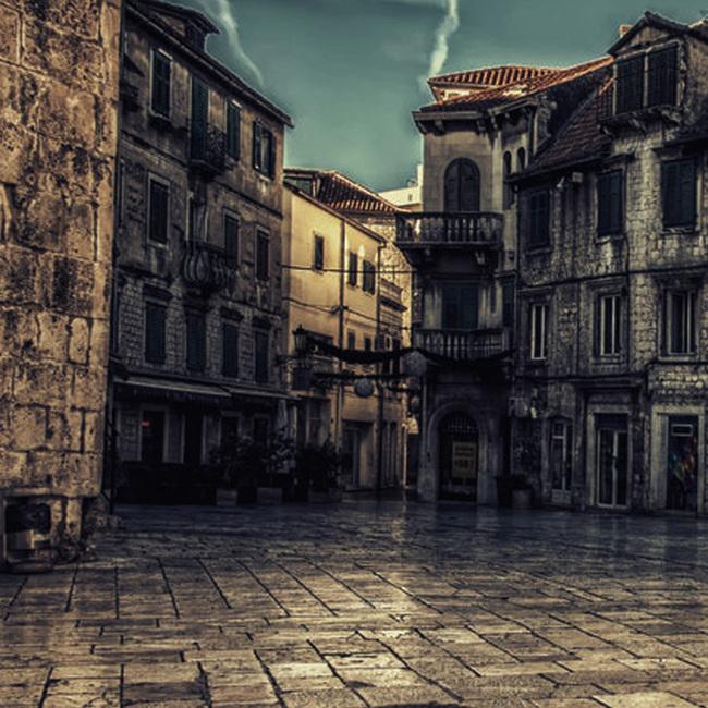 欧式复古建筑服装主图背景素材
