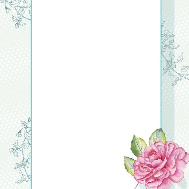 清新手绘花朵化妆品主图