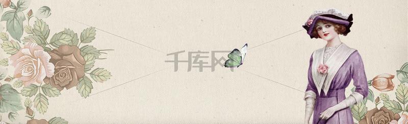 淘宝活动上新清新欧美banner