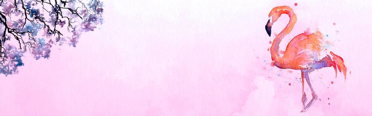 水彩手绘文艺促销banner