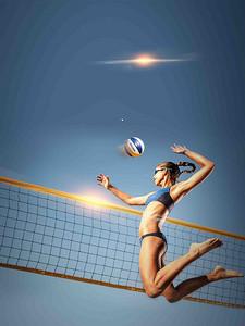 火爆激情排球赛海报背景素材 2159 3841 -排球赛背景素材 排球赛高清