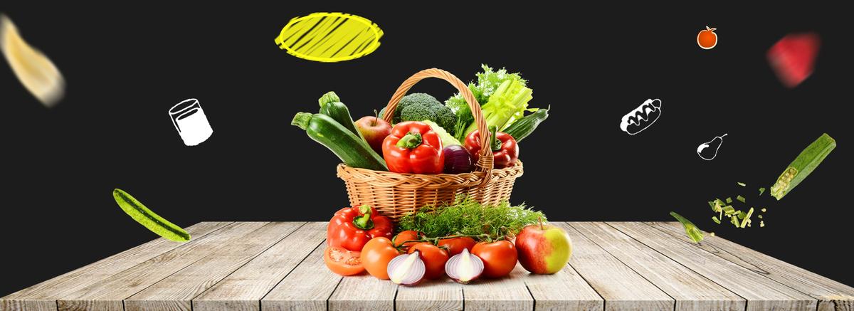蔬菜瓜果食物banner