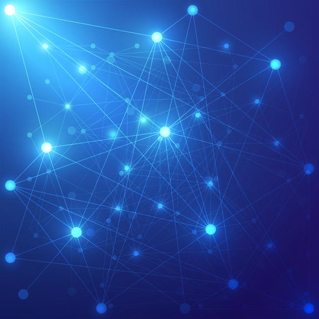 蓝色科幻蓝光数码产品psd分层主图