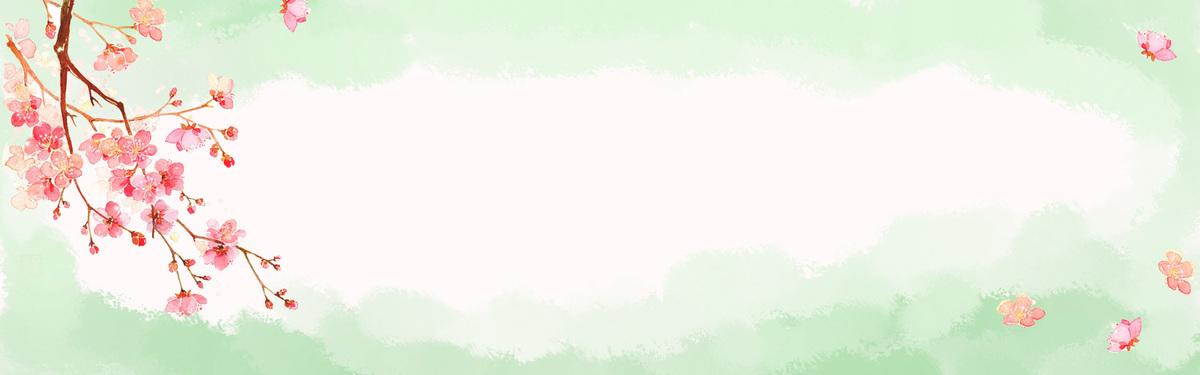 创意手绘水彩文艺banner