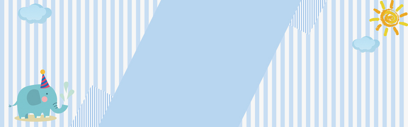 蓝色卡通童装童趣banner