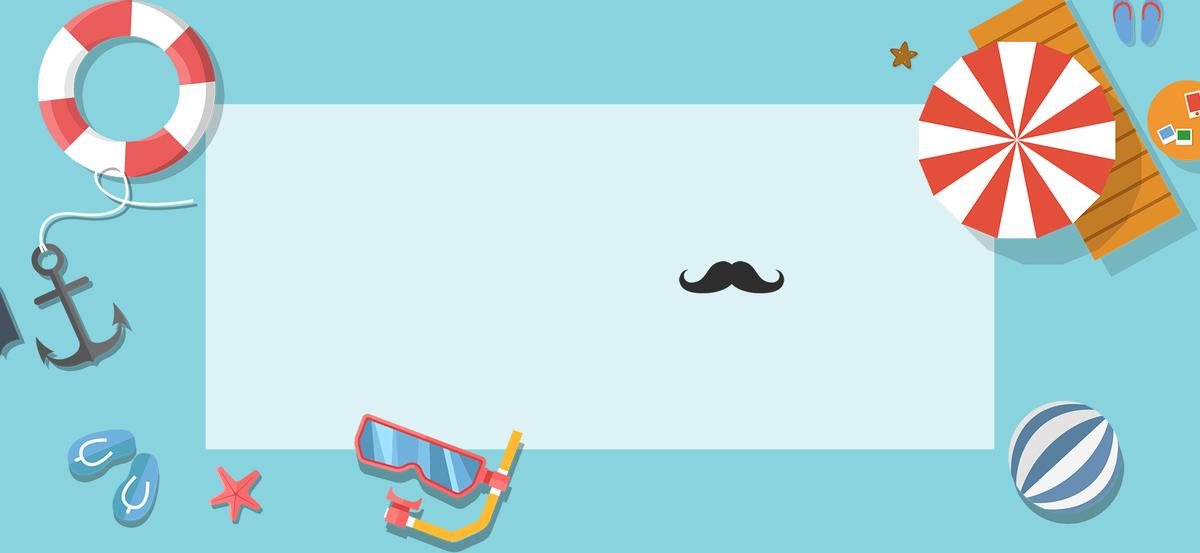 图片 > 【psd】 蓝色清新卡通旅游度假游泳banner  分类:卡通/手绘 类