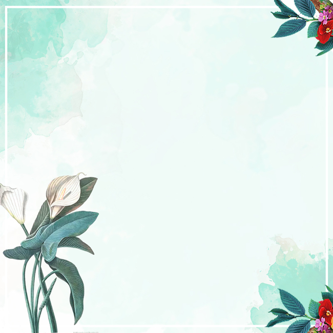 文艺 小清新 花朵 绿色 水彩 花 淡雅             此素材是90设计网