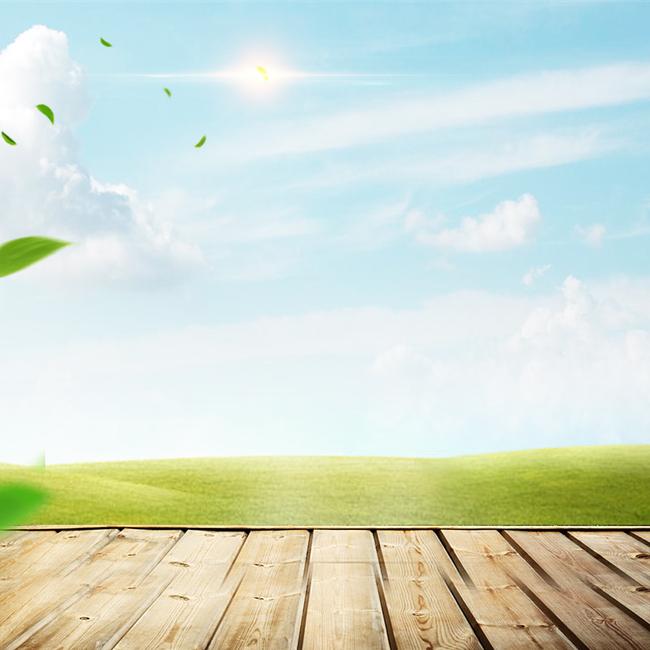 户外草地蓝天自然食品促销psd分层主图