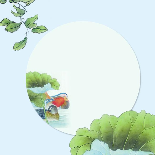 手绘中国风花鸟画主图
