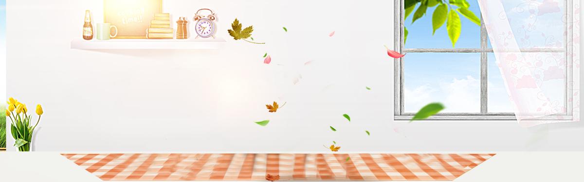 温馨精致生活家居文艺灰色banner背景图片素材