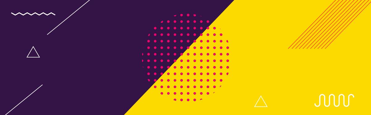 抽象几何线条扁平淘宝banner