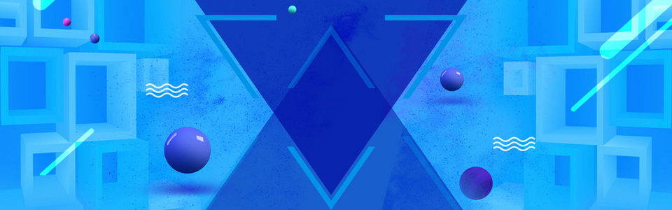 蓝色创意冬季banner海报