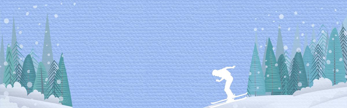 手绘卡通小雪冬季banner