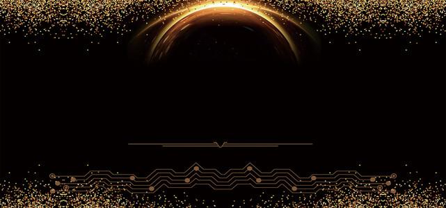大气地产黑金光晕展板背景图