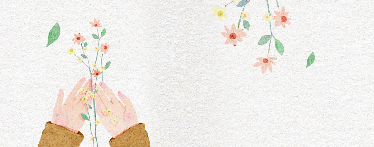 12月你好小清新手绘花朵棕色banner