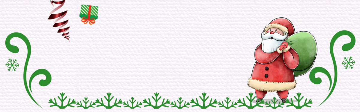 手绘卡通圣诞节简笔画banner海报背景