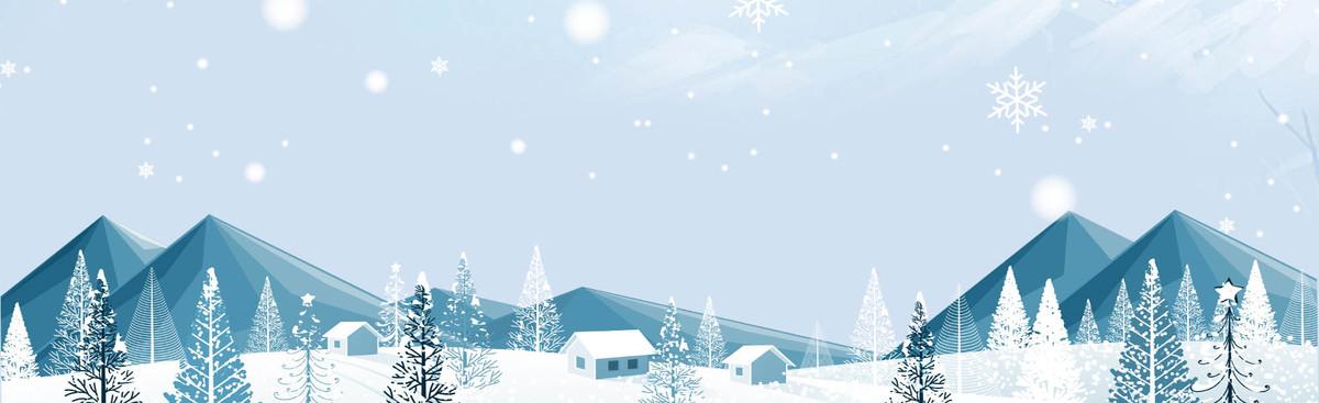 清新冬季雪山新品年终促销banner_psd素材免费下载_ *