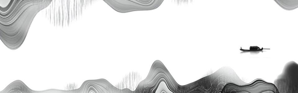 中式水墨淡雅禅意海报banner背景
