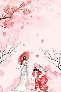 唯美手绘古装仙女_【古装美女背景图片】_古装美女高清背景素材下载_千库网