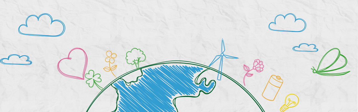 保护地球清新banner海报背景图片