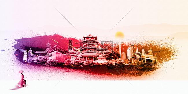 福州印象福州旅游海报图片