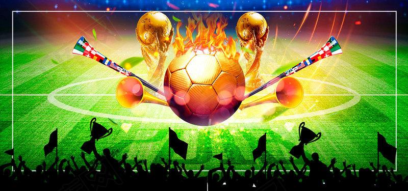 狂欢世界杯绿色文艺banner