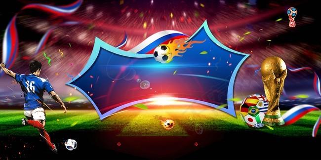 世界杯创意足球展板