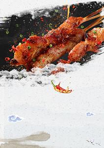 夏季烧烤美食宣传单