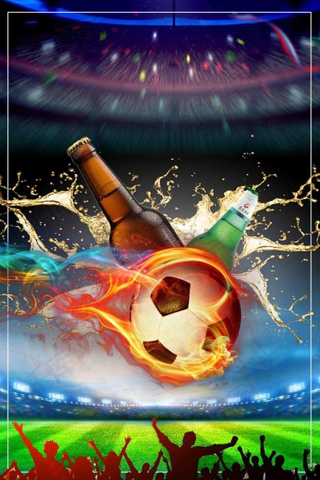 大气2018俄罗斯激战世界杯足球海报