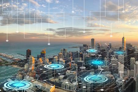 现代科技型智能城市