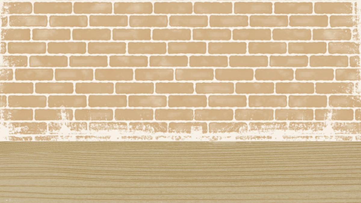 手绘墙砖海报背景
