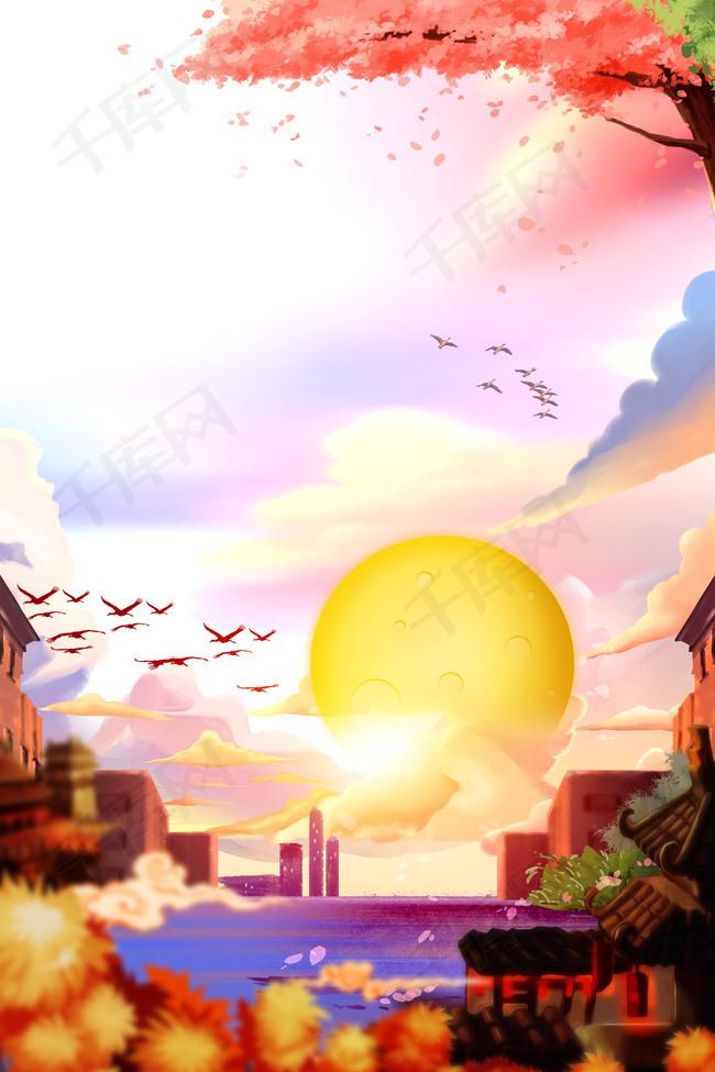 古风中秋节传统节日