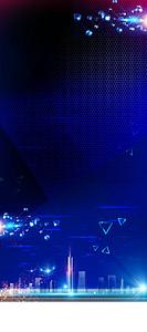 蓝色创意科技新时代X展架
