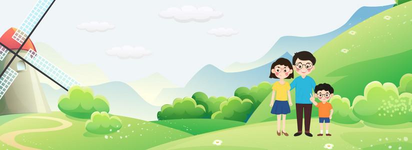 一起绿色手绘1小树小胖男孩儿表情图表情人玩吧素材图片免费下图片